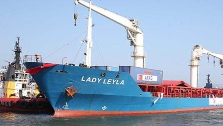 Gazze'ye yardım götürecek 2'inci gemi bugün Mersin'den yola çıkacak