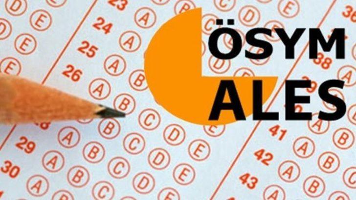 22 Kasım tarihli Sonbahar Dönemi ALES giriş belgeleri yayınlandı