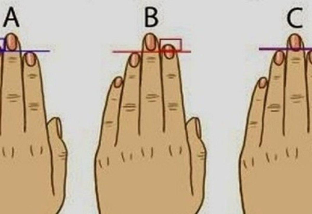 parmak uzunlugunuz karakteriniz