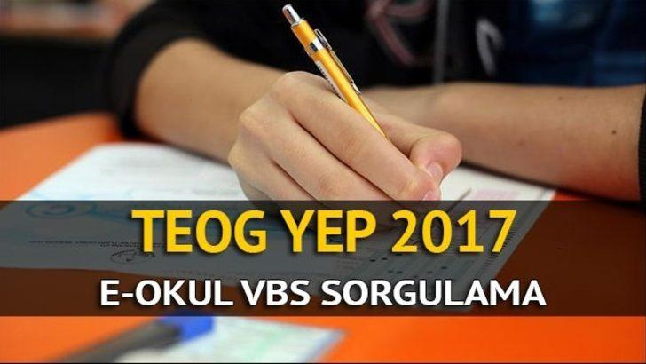 TEOG YEP puanları açıklandı! Tıkla e-okul TEOG YEP puanları sorgula
