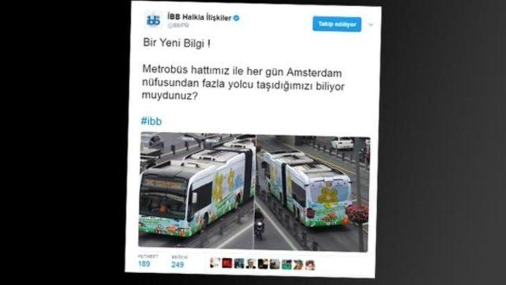 İBB'nin metrobüs tweeti olay yarattı