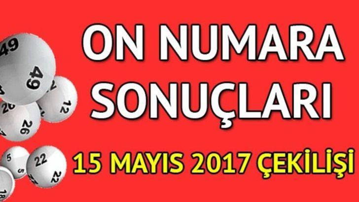 On Numara sonuçları 15 Mayıs: On Numara'da gene devir yok!