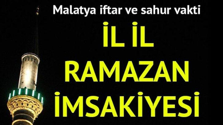 Malatya Ramazan imsakiyesi 2017: İftara ne kadar kaldı? Malatya iftar ve imsak vakti...