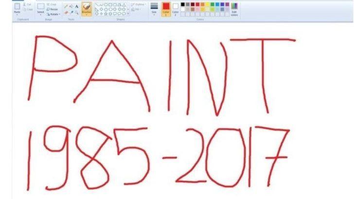 Microsoft efsanevi program Paint'i kaldırıyor