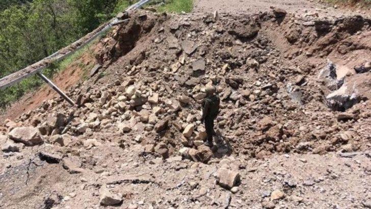 Tunceli'de 500 kilo patlayıcı tuzağı son anda fark edildi