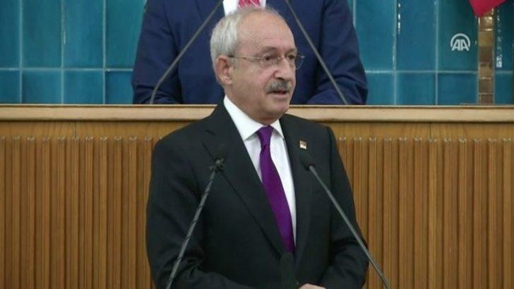 CHP Genel Başkanı Kılıçdaroğlu partisinin grup toplantısında konuşuyor