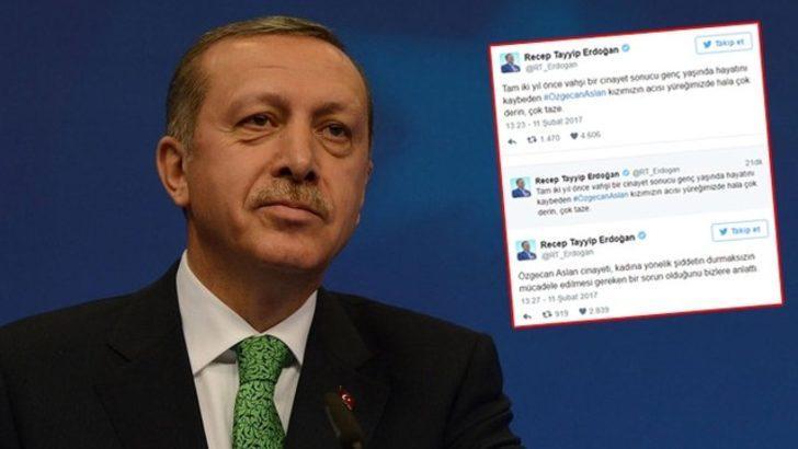 Cumhurbaşkanı Erdoğan'dan 'Özgecan Aslan' mesajı