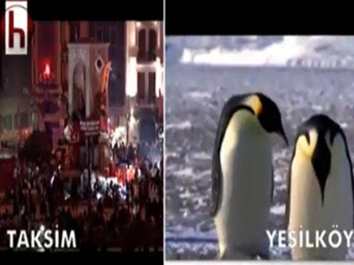Halk TV'den penguenli gönderme!