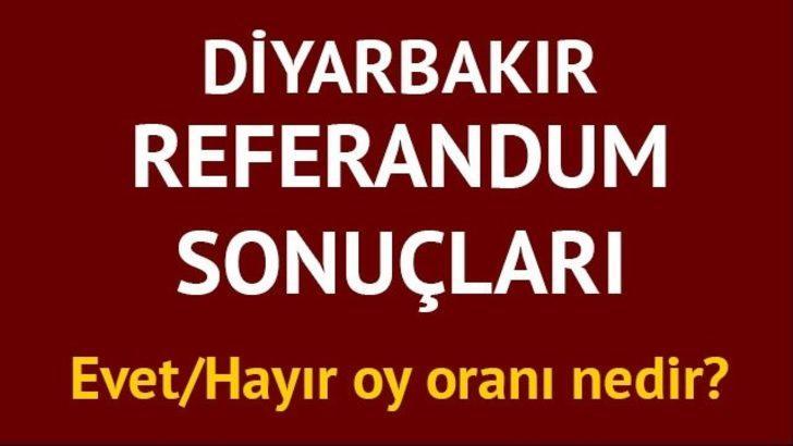 Diyarbakır Referandum sonuçları: 2017 Türkiye geneli il il ve Diyarbakır'da Evet/Hayır oy oranları