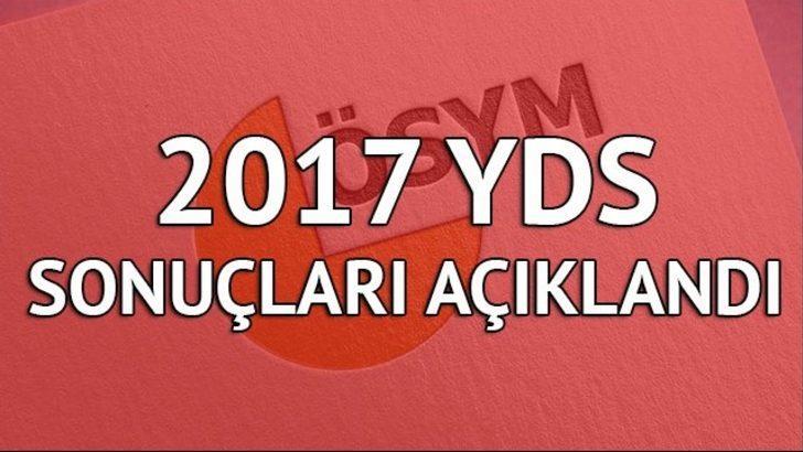 YDS sonuçları açıklandı! 2017 YDS sonuç sorgulama için tıkla!