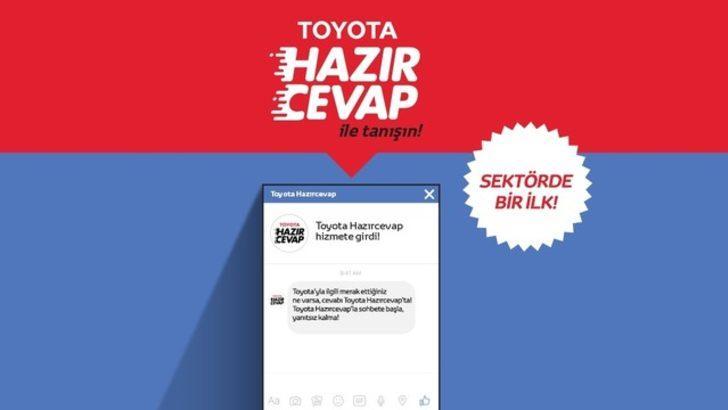 Toyota'nın chatbot uygulaması 'hazırcevap' yayında