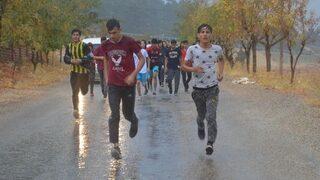 Öğrenciler Cumhuriyet için koştu