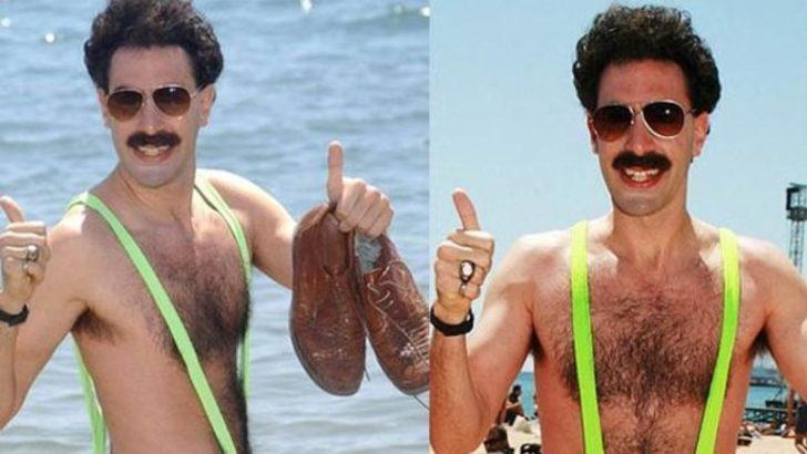 Borat mayosu giyen turistler gözaltına alındı