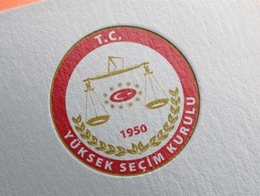 YSK seçim listesini açıkladı: İYİ Parti yok!
