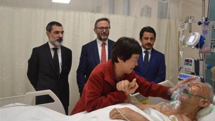 Gazi babasını ziyaret eden Koreli Ayla, gözyaşlarına boğuldu