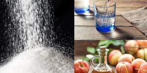 Su, sirke ve tuzu bir bardağa koyup bekletince öyle bir şey oluyor ki!