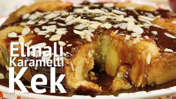 Elmaya doyurur: Elmalı karamelli kek tarifi