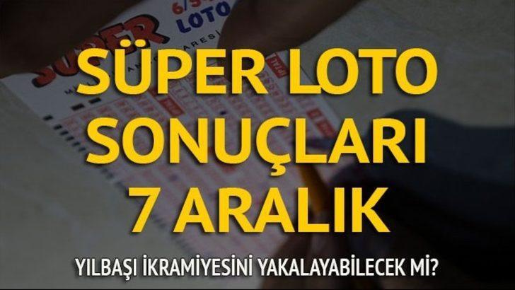 7 Aralık Süper Loto sonuçları: Devreden Süper Loto'da ikramiye 10 milyon lira oldu!