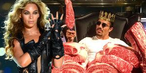 Dünyaca ünlü şarkıcı Beyonce, evinde mangal yapması için Nusret'e teklif yaptı