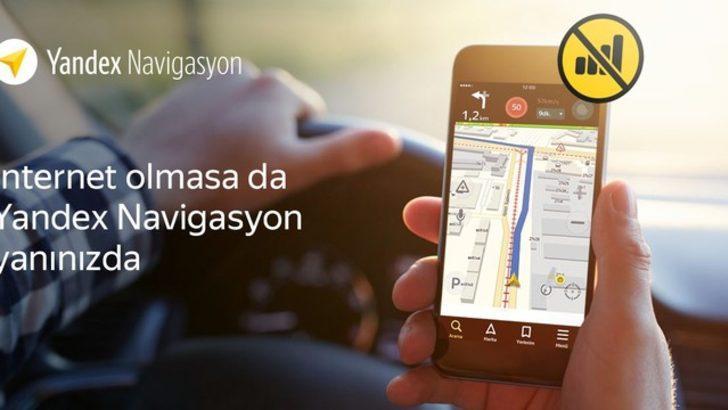 Yandex'te 'Çevrimdışı Navigasyon' dönemi