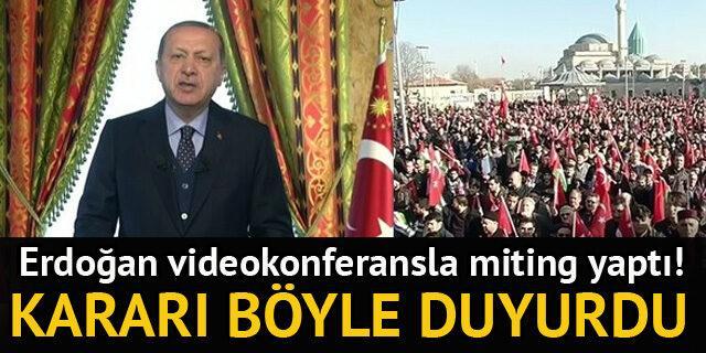 Erdoğan: Girişimleri başlatıyoruz