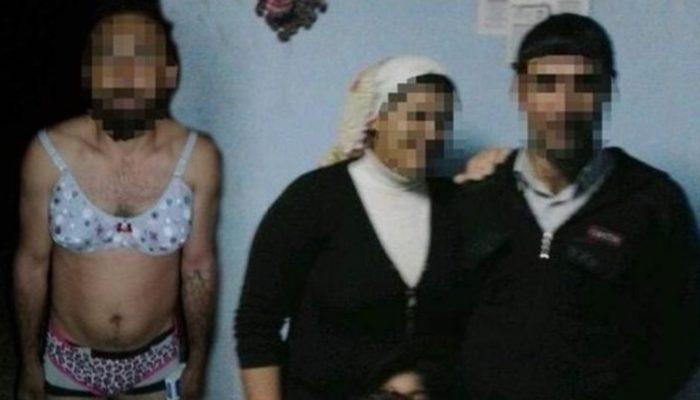 Karısının sevgilisine kadın kıyafeti giydirip tecavüz etti!