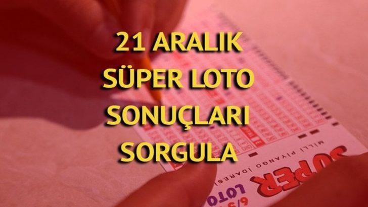 Süper Loto sonuçları 21 Aralık - MPİ Süper Loto sonucu: 15 milyon haftaya kaldı!