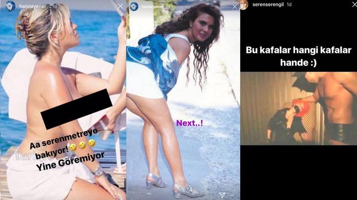 Hande Yener, Seren Serengil'in üstsüz fotoğrafını paylaştı!