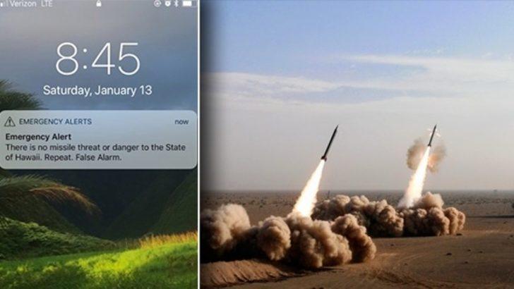 ABD'de balistik füze saldırısı paniği! Telefonlara uyarı mesajı geldi