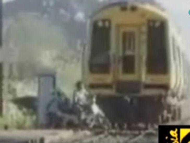 Tren altından sağ çıktı