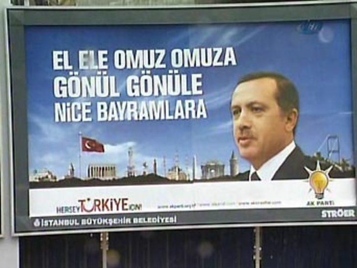 Erdoğan'dan billboardlu bayram tebriği