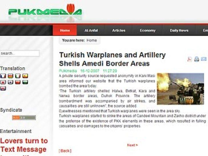 """KYB sitesi: """"PKK kayıp verdi"""""""
