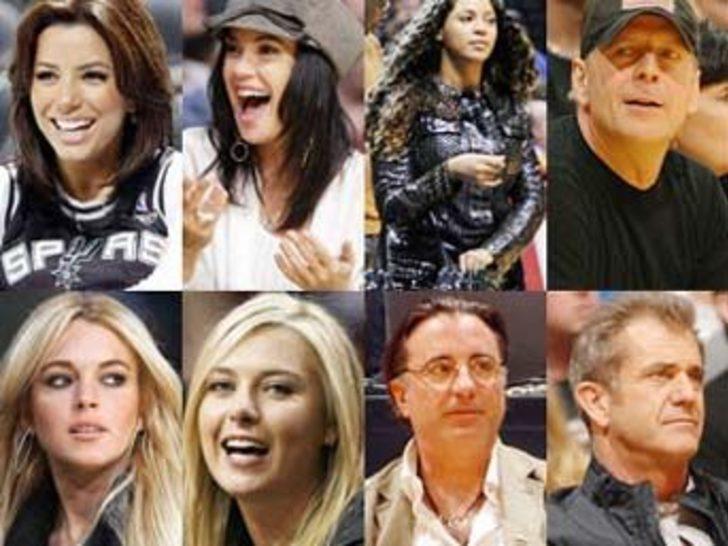 NBA müdavimi ünlüler!