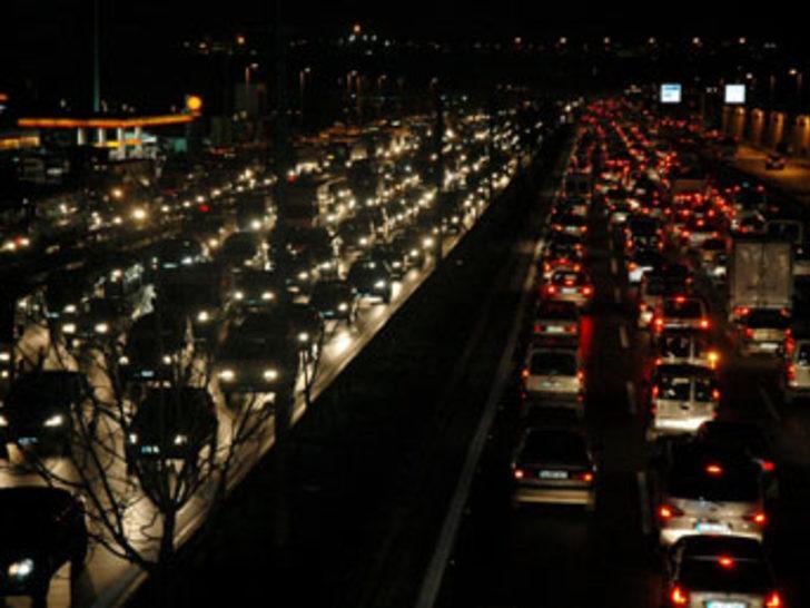 İstanbul'da trafik krizi