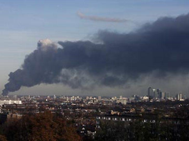 Londra'daki patlamaya yangın neden olmuş
