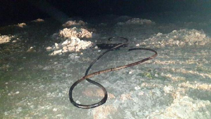 Boru hattından 17 ton petrol çalan şüpheli yakalandı