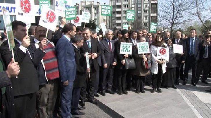 "MHP'den ""İstinye arazisi"" protestosu"