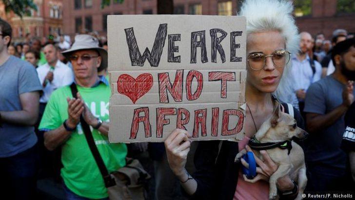 Manchester teröre karşı birarada