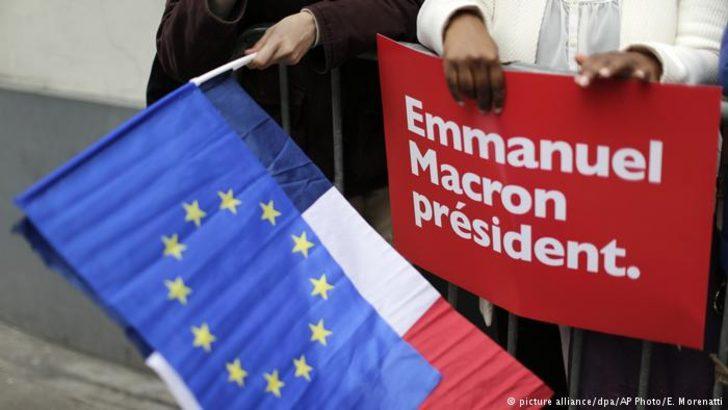Emmanuel Macron'a tebrikler başladı