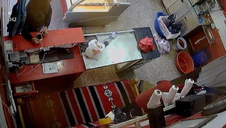 İş yerinde cep telefonu hırsızlığı kamerada