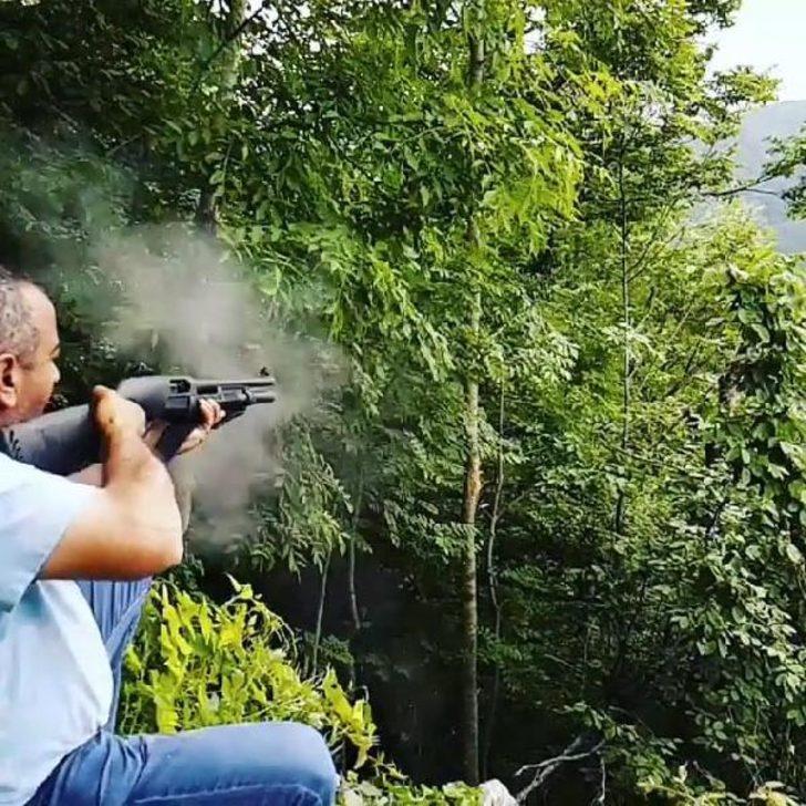 Tüfekle ağaçlara ateş açan kişi hakkında yasal işlem başlatıldı