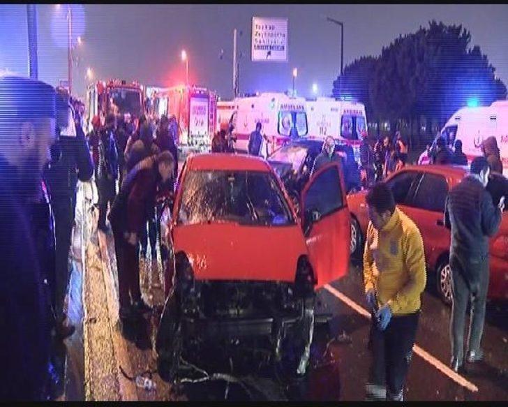 Vatan Caddesi'nde trafik kazası: 1'i ağır 6 yaralı