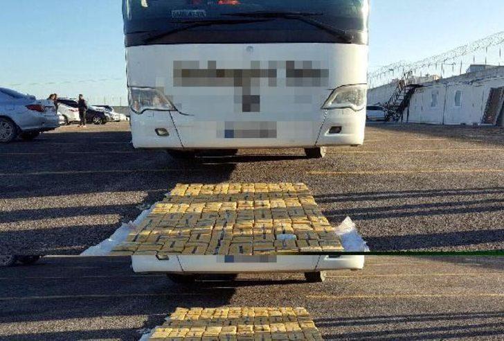 Otobüste 107 kilo 420 gram eroin ele geçirildi