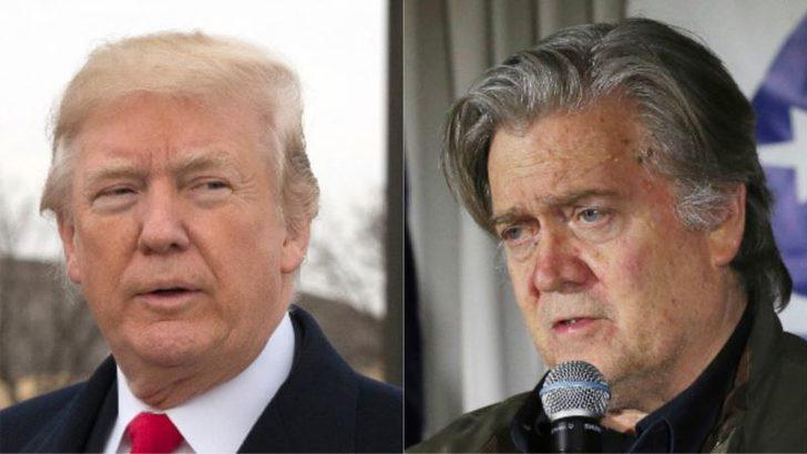 Trump'tan Bannon'a: 'Kovulduğunda Sadece İşini Kaybetmedi Aklını da Kaybetti'