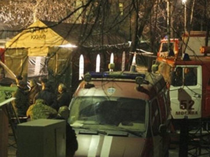 Moskova'da hastane yangınında ölü sayısı 45