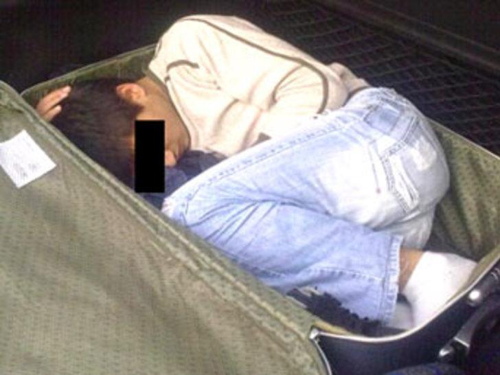 Bir bavul içinde ülkeye girmeye çalıştı