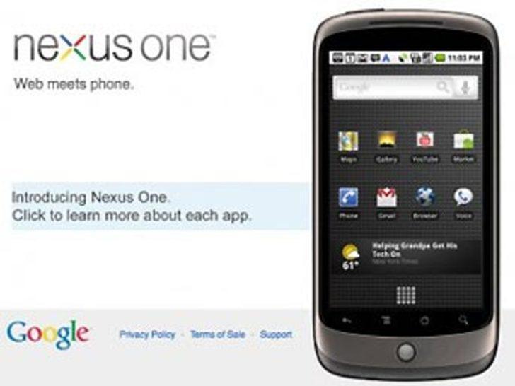 Google'ın telefonu sahneye çıkıyor
