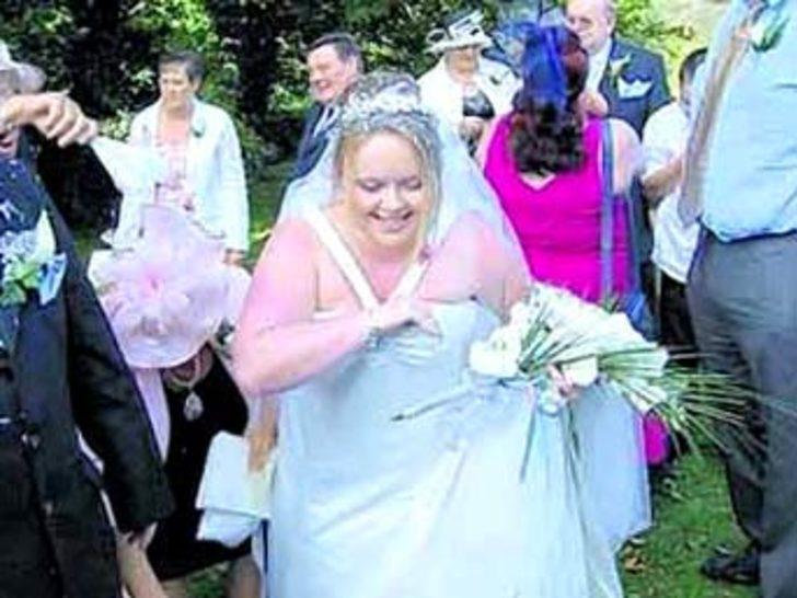 Düğünü unutulmaz olsun istedi ve...