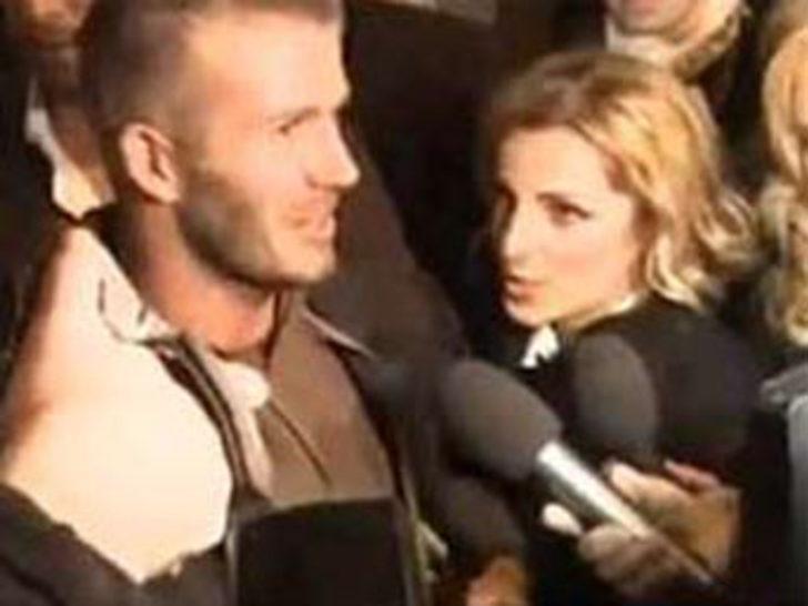 Beckham'ı ayaküstü taciz etti!