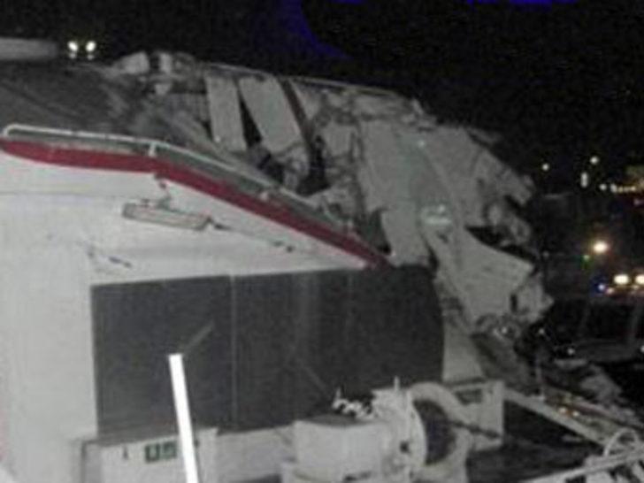 İşte kaza sonrası ilk görüntüler